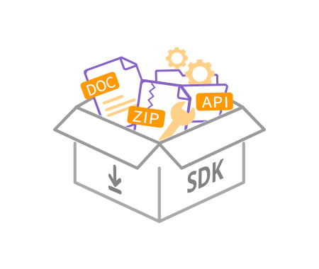 A figure that the SDK download and technical documents are provided.