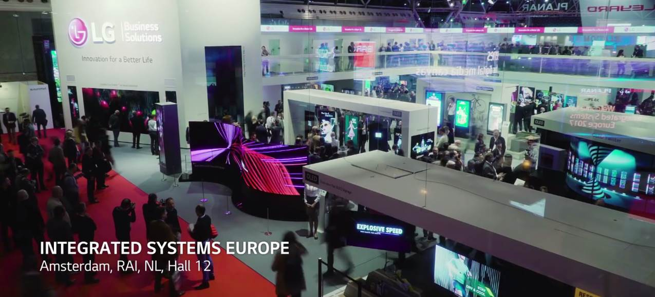 A photo of LG Booth at ISE 2017.
