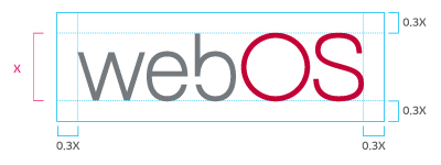 Image representing the clear space specification for the webOS logo.