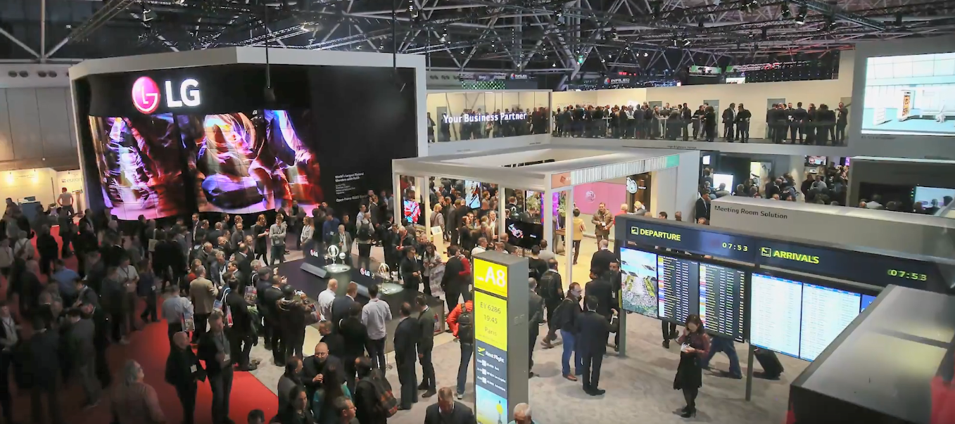 A photo of LG Booth at ISE 2018.