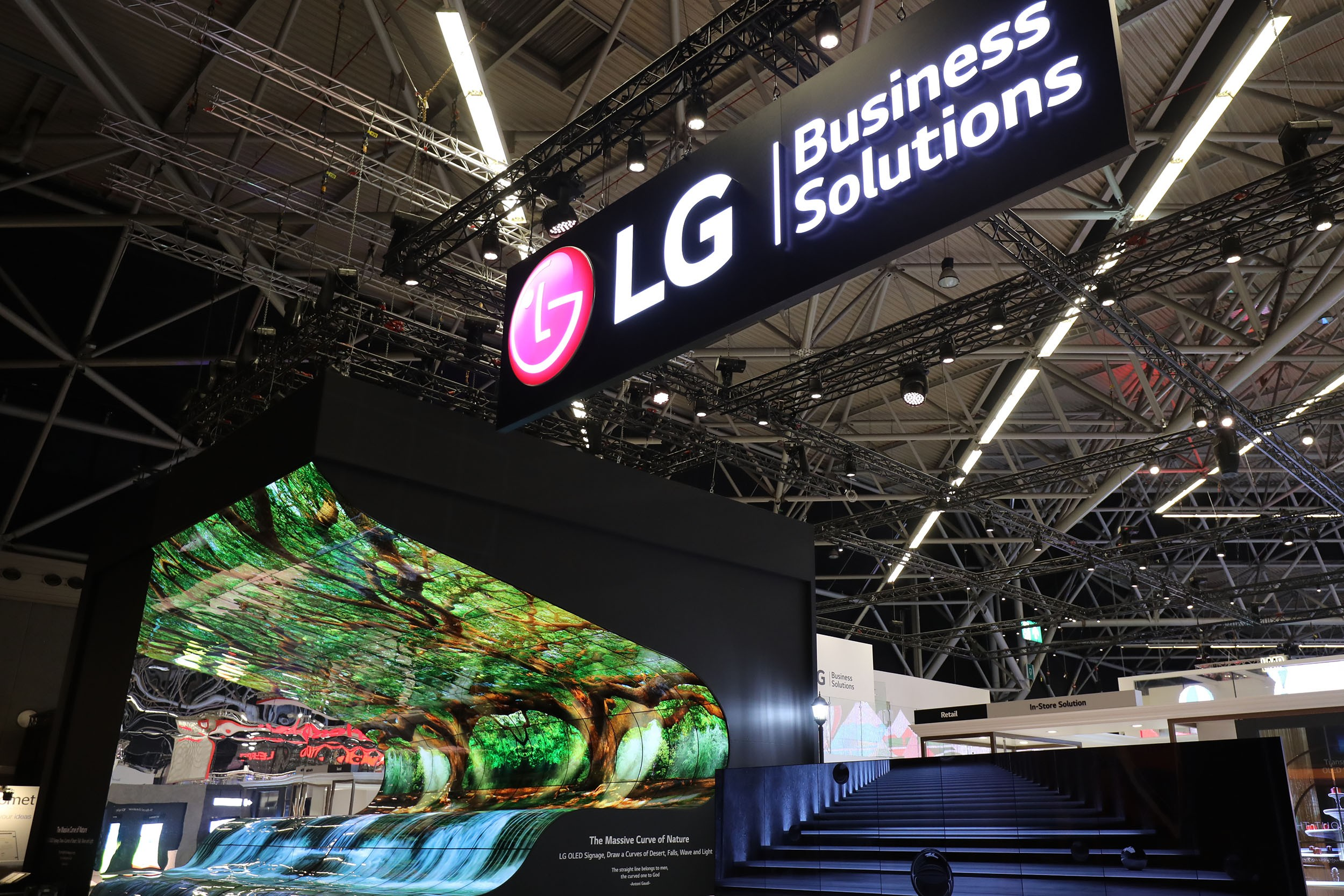 A photo of LG Booth at ISE 2019.